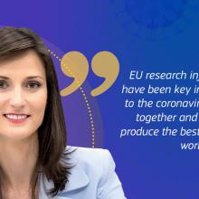 Message of Mariya Gabriel, European Commissioner for Research & Innovation